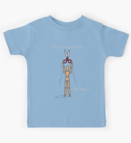 No Strings Attached- Atheism (large size) Kids Tee