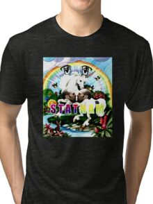Rainbow Statham Massacre Tri-blend T-Shirt