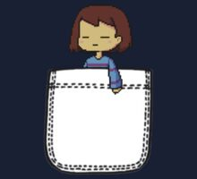 Frisk in the Pocket (v2) - Undertale Kids Tee