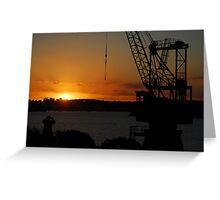 Cockatoo Island - Sunset Greeting Card