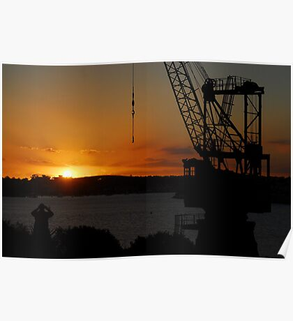 Cockatoo Island - Sunset Poster