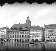 View of Lucerne from the Kapellbrucke by PrivateVices