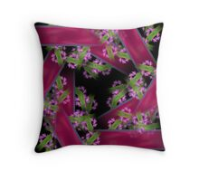 Ribbons And Flowers Throw Pillow