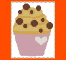 cross stitch chocolate chip muffin Kids Tee
