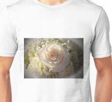 Elegant White Roses Unisex T-Shirt