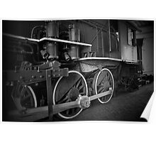 Engine in Black and White Poster
