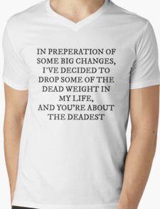 Dead Weight Mens V-Neck T-Shirt