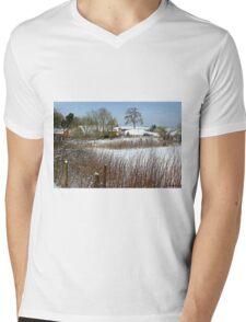 Snow Comes South Mens V-Neck T-Shirt