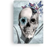 Open minded, unzipping sugar skull  Canvas Print