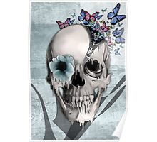 Open minded, unzipping sugar skull  Poster