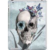 Open minded, unzipping sugar skull  iPad Case/Skin