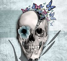 Open minded, unzipping sugar skull  by KristyPatterson