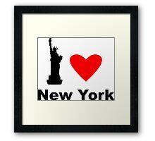 I Heart New York Framed Print