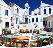 Porta square, Nikeia village, Nisyros island by Hercules Milas