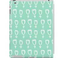 mint tulips iPad Case/Skin