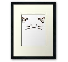 Cat Face Framed Print