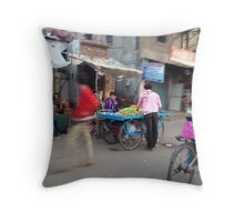 Streets of Agra Throw Pillow