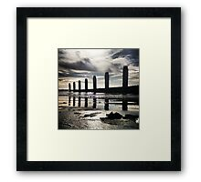 Groyne Reflection, Felpham Beach, West Sussex Framed Print