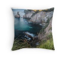 Coromandel Cliffs - New Zealand Throw Pillow