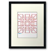 3D Cubes Framed Print