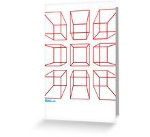 3D Cubes Greeting Card
