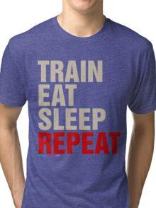 Train Eat Sleep Repeat Tri-blend T-Shirt