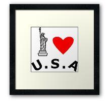 I Heart United States of America Framed Print