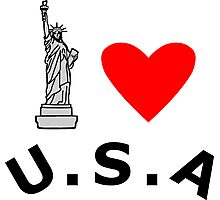 I Heart United States of America Photographic Print