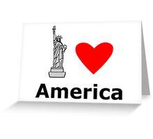 I Love America Greeting Card