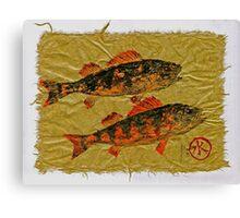 Gyotaku - Yellow Perch - Orange Roughy Canvas Print