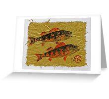 Gyotaku - Yellow Perch - Orange Roughy Greeting Card