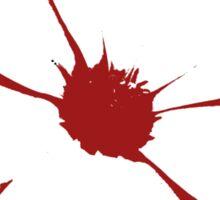 Red Circle Flower Sticker