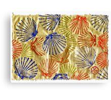 Gyotaku Scallops - Bivalvify - Seafood Melody Canvas Print