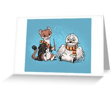 The Owl and the Weasel  Greeting Card