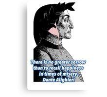 Dante Quote Canvas Print