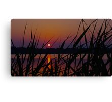 Sunset over Salt Pond 2 Canvas Print