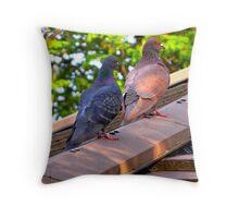 Pigeons Throw Pillow