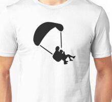 Parachute jumping couple tandem Unisex T-Shirt