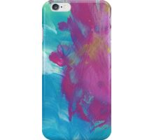 Abstract Painting in magenta and cyan 11/18 iPhone Case/Skin