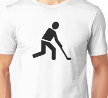 Field hockey player symbol Unisex T-Shirt