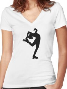 Figure skating Women's Fitted V-Neck T-Shirt