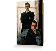 The Godfather - Al Pacino, Robert De Niro Greeting Card