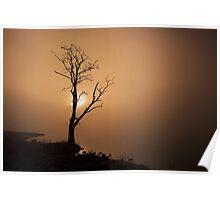 Golden Sunrise on Loch Ard Poster