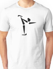 Figure skating icon Unisex T-Shirt