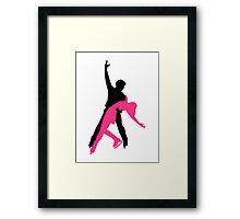 Figure skating couple Framed Print