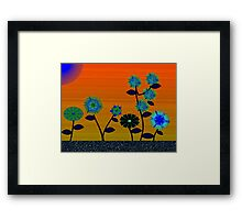 Flower patch Framed Print