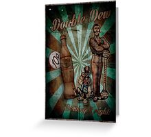 Zombies Double Dew Perk Poster Greeting Card
