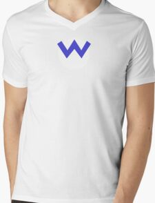 Wario W Mens V-Neck T-Shirt