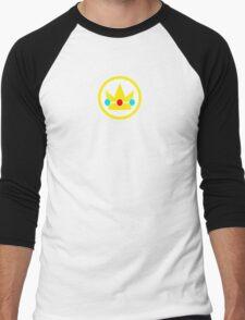 Princess Peach Crown Men's Baseball ¾ T-Shirt