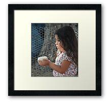Chicklet Framed Print